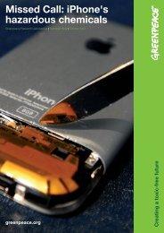 iPhone's hazardous chemicals - Greenpeace