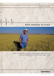 Rice industry in crisis - Greenpeace