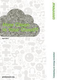 How Clean is Your Cloud? - Greenpeace