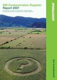 GM Contamination Register Report 2007 - Marktcheck.at