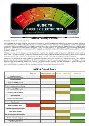 guide to greener electronics guide to greener ... - Greenpeace