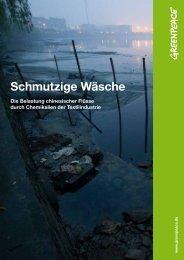 """Bericht """"Schmutzige Wäsche"""" - Greenpeace"""