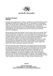 Pressebio Kurz - Marshall & Alexander