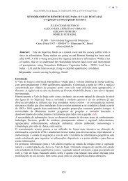 Sensoriamento remoto e SIG para o Vale do Itajaí - Inpe