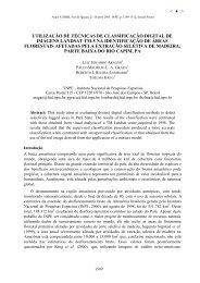 UTILIZAÇÃO DE TÉCNICAS DE CLASSIFICAÇÃO ... - marte:80 - Inpe