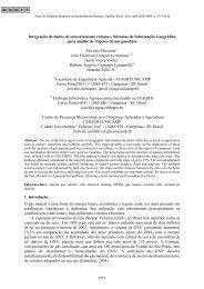 Integração de dados de sensoriamento remoto e Sistemas de ... - Inpe