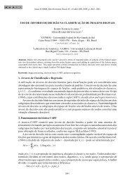 USO DE ÁRVORES DE DECISÃO NA CLASSIFICAÇÃO DE ...