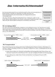 Das Internetschichtenmodell