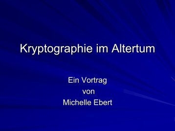 Kryptographie im Altertum