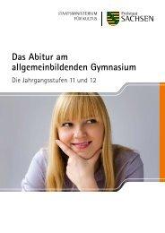 Das Abitur am allgemeinbildenden Gymnasium - Publikationen ...