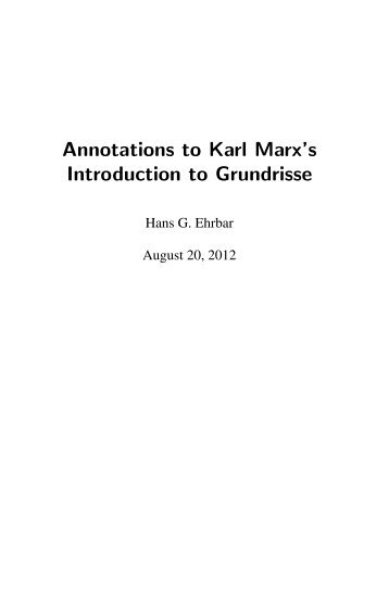 an introduction to the philosophical synthesis of marx Method in his introduction to the critique of political economy how then does marx's philosophical position marx and the origin of dialectical.