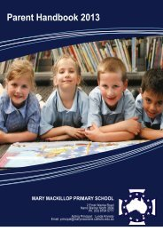 Parent Handbook 2013 - Mary Mackillop Primary School