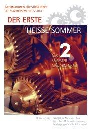 der erste heisse sommer - Fachschaft Maschinenbau der Leibniz ...