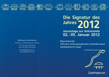 Die Signatur des Jahres2012 - Mathematisch-Astronomische ...