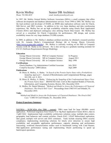 kevin molloy resume - George Mason University