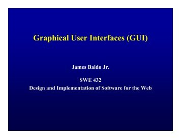 Graphical User Interfaces (GUI)