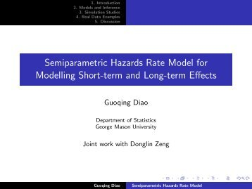 Semiparametric Hazards Rate Model for Modelling Short-term and ...