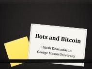 Bitcoin and Botnets - George Mason University