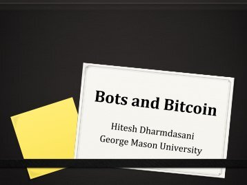 Bitcoin and Botnets - George Mason University