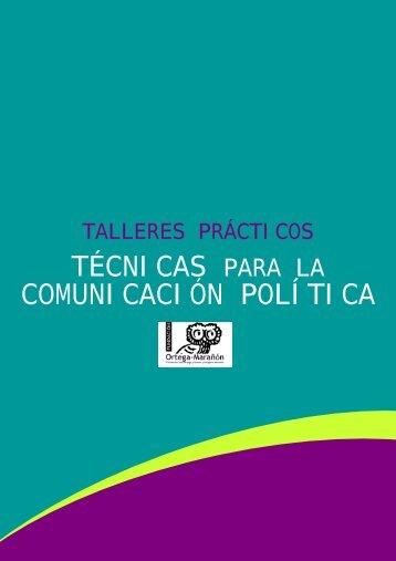 información de los Talleres - Master en Comunicación Política