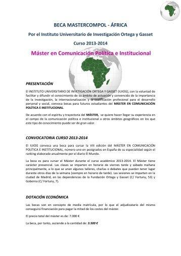 Mastercompol – África - Master en Comunicación Política