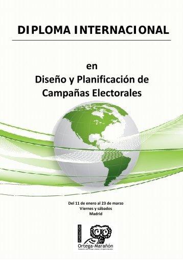 nformación del Diploma - Master en Comunicación Política
