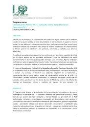 Comunicación Política 2.0. La Campaña online de las Elecciones ...