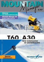 NEW DIMENSIONS OF SNOWMAKING Special: