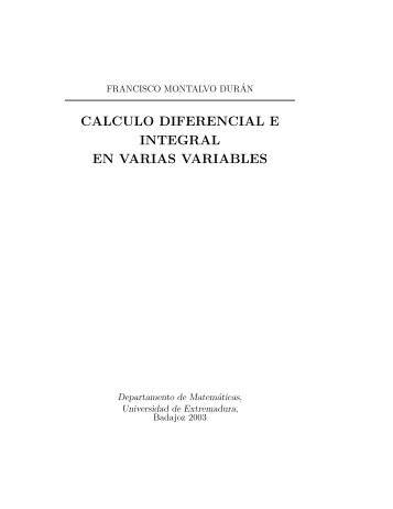 calculo diferencial e integral en varias variables - Departamento de ...