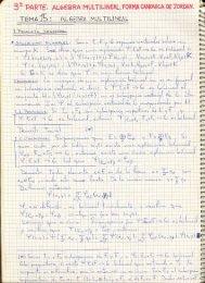 III. Álgebra Multilineal