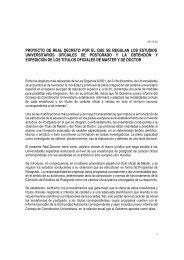 Proyecto de Real Decreto por el que se regulan los estudios ...