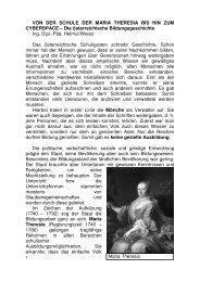 Maria Theresia VON DER SCHULE DER MARIA ... - HTL Wien 10