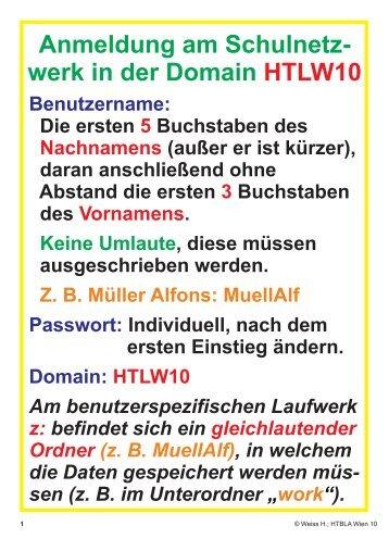 Schulnetz und EAGLE OH-Folien... - HTL Wien 10