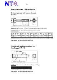 Ausführliche Informationen über Schrauben im ... - NTO-Online
