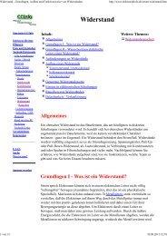 Widerstand - Grundlagen, Aufbau und ... - HTL Wien 10
