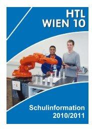 Schulinformation 2010/2011 - HTL Wien 10