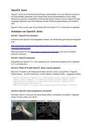 OpenCV_demo Aufsetzen von OpenCV_demo - HTL Wien 10