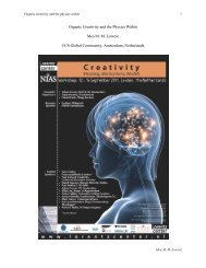 Organic Creativity and the Physics Within - Materials Science Institute