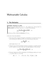 Multivariable Calculus - Occidental College