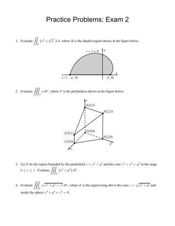Practice Problems: Exam 2 (PDF)