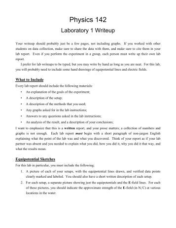 science report example