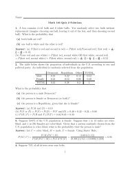 Name: Math 146 Quiz 2 Solutions 1. A box contains 4 red balls and ...