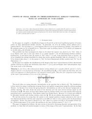 POINTS OF SMALL ORDER ON THREE-DIMENSIONAL ABELIAN ...