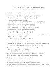 Quiz 1 Practice Problems: Permutations