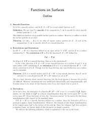 Functions on Surfaces
