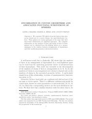 enumeration in convex geometries and associated polytopal ...