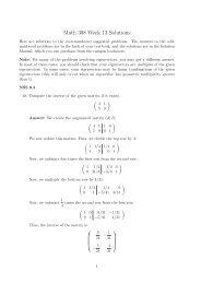 Math 308 Week 13 Solutions