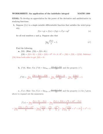 indefinite integration as the reverse of differentiation