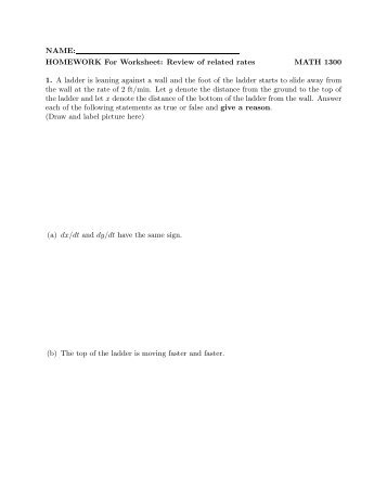 WORKSHEET: The definite integral MATH 1300 Goal: To review the ...