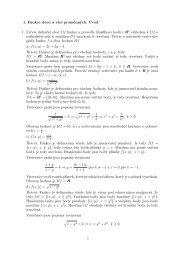 1. Funkce dvou a více proměnných. Úvod 1. Určete definiční obor Df ...